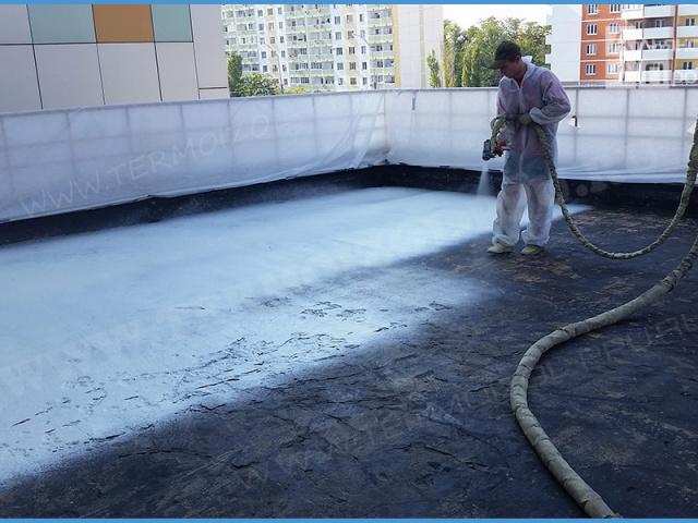 Утепление плоских крыш