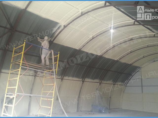 Утепление арочных складов